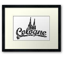 Cologne Classic Vintage Schwarz Framed Print