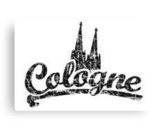 Cologne Classic Vintage Schwarz Canvas Print