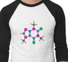 Caffeine Molecular Structure Men's Baseball ¾ T-Shirt