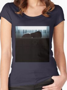 Bathtub Boy Photograph Women's Fitted Scoop T-Shirt