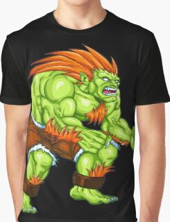 Blanka - green fighter Graphic T-Shirt