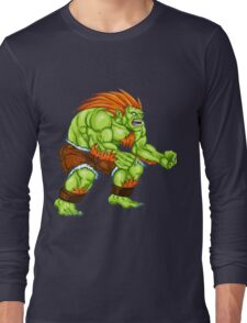 Blanka - green fighter Long Sleeve T-Shirt