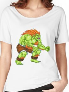Blanka - green fighter Women's Relaxed Fit T-Shirt