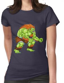 Blanka - green fighter Womens Fitted T-Shirt