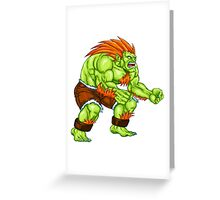 Blanka - green fighter Greeting Card