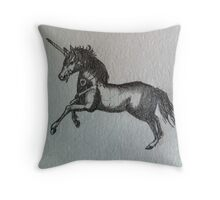 unicorn heart Throw Pillow