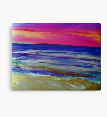 The Sea at Sunset Canvas Print