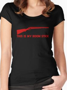 This Is My BOOMSTICK red print Women's Fitted Scoop T-Shirt