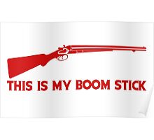 This Is My BOOMSTICK red print Poster