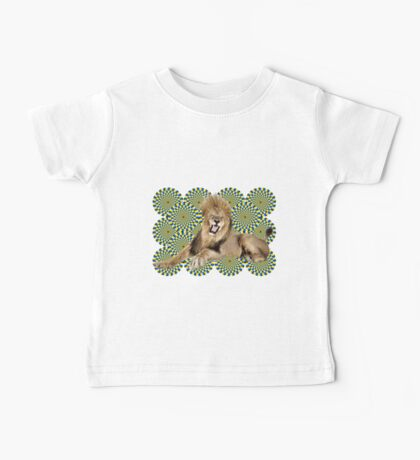 Roar Leo optical ilusion Baby Tee