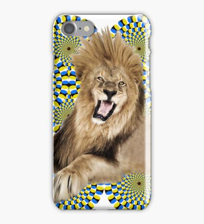 Roar Leo optical ilusion iPhone Case/Skin