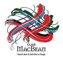 Clan MacBean - Prefer your gift on Black/White tell us at info@tangledtartan.com  Photographic Print