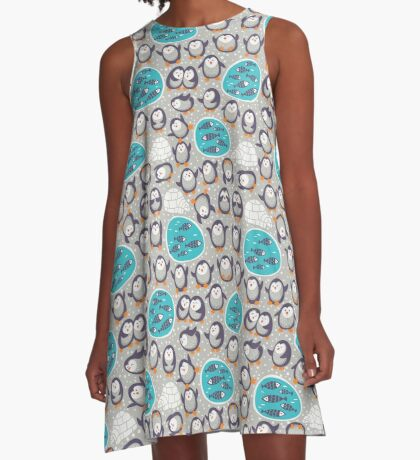 Winter penguins A-Line Dress