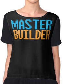 MASTER BUILDER with toy bricks Chiffon Top