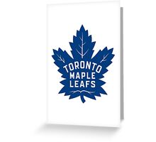Toronto Maple Leafs New Away Logo Greeting Card