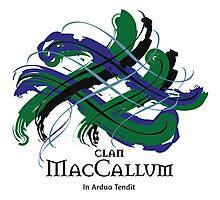 Clan MacCallum - Prefer your gift on Black/White tell us at info@tangledtartan.com  Photographic Print