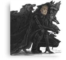 black wolves Canvas Print