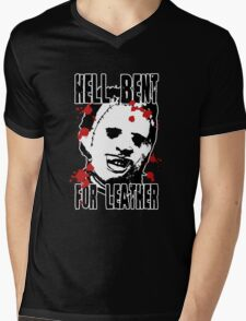 Hell Bent For Leatherface Mens V-Neck T-Shirt