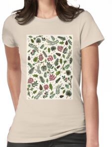 Leaves Pattern Womens Fitted T-Shirt