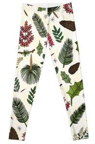 Leaves Pattern Leggings