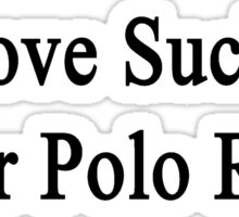 Love Sucks Water Polo Rocks Sticker