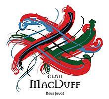 Clan MacDuff  - Prefer your gift on Black/White tell us at info@tangledtartan.com  Photographic Print