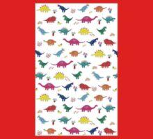 Colourful Dinosaur Pattern One Piece - Short Sleeve