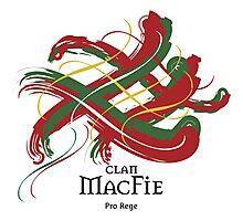 Clan MacFie - Prefer your gift on Black/White tell us at info@tangledtartan.com  Photographic Print