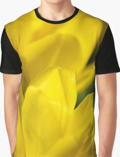 Yellow Flower Abstract Graphic T-Shirt