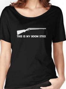 This Is My BOOMSTICK white print Women's Relaxed Fit T-Shirt