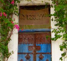 Kenyan doorway with bougainvillea Sticker