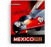"""MEXICO VINTAGE GRAND PRIX"" Auto Racing Print Canvas Print"