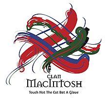 Clan MacIntosh - Prefer your gift on Black/White tell us at info@tangledtartan.com  Photographic Print