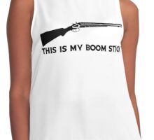 This Is My BOOMSTICK black print Contrast Tank