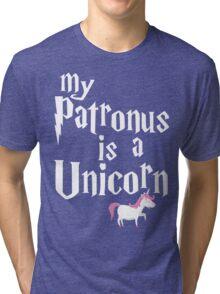 My Patronus Is A Unicorn T Shirt Tri-blend T-Shirt