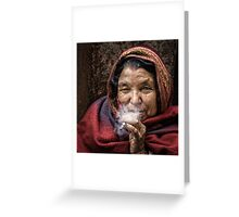 The Smoker Greeting Card