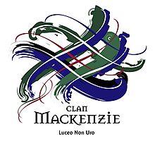 Clan Mackenzie - Prefer your gift on Black/White tell us at info@tangledtartan.com  Photographic Print