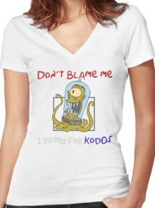 Don't Blame Me I Voted For Kodos - Simpsons Women's Fitted V-Neck T-Shirt