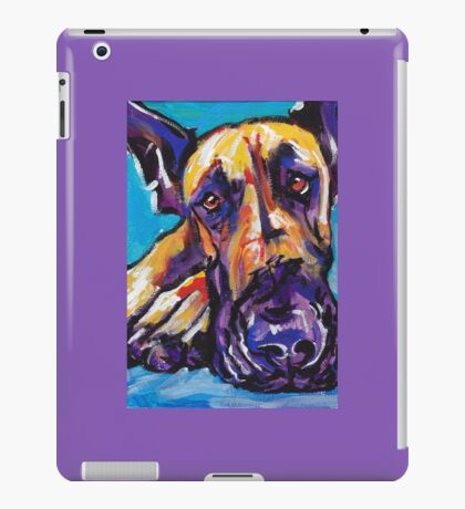 Great Dane Dog Bright colorful pop dog art iPad Case/Skin