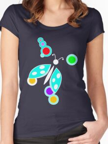 Ladybug Blue Purple Women's Fitted Scoop T-Shirt