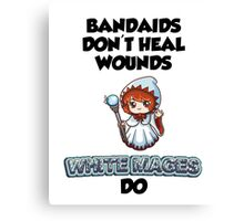 Bandaids are useless Canvas Print