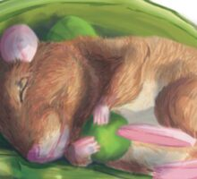 Sleeping green peas mice Sticker