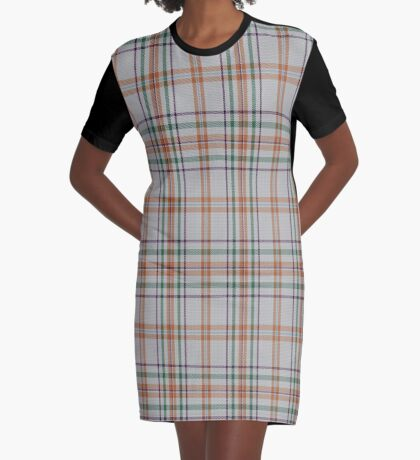 01284 Chicago Sunrise Fashion Tartan  Graphic T-Shirt Dress