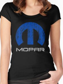 Mopar distressed Women's Fitted Scoop T-Shirt