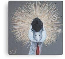 Bird Portrait - Crowned Crane Canvas Print