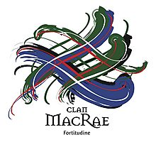 Clan MacRae - Prefer your gift on Black/White tell us at info@tangledtartan.com  Photographic Print