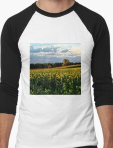 Summer sunflower field Men's Baseball ¾ T-Shirt
