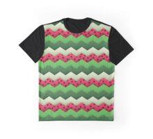 Watermelon Chevron Graphic T-Shirt