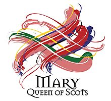 Mary Queen of Scots - Prefer your gift on Black/White tell us at info@tangledtartan.com  Photographic Print