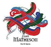 Clan Matheson - Prefer your gift on Black/White tell us at info@tangledtartan.com  Photographic Print